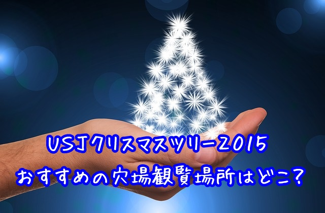 usj クリスマスツリー2015 穴場の観覧場所