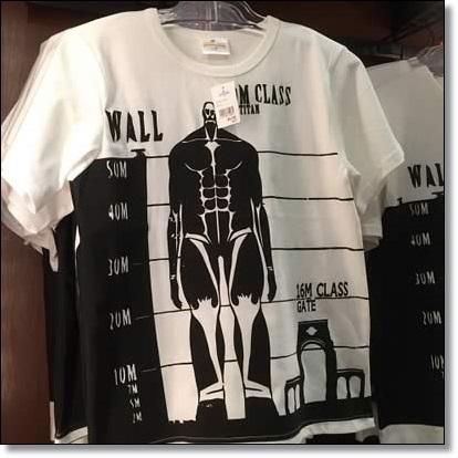 USJ 進撃の巨人 Tシャツ