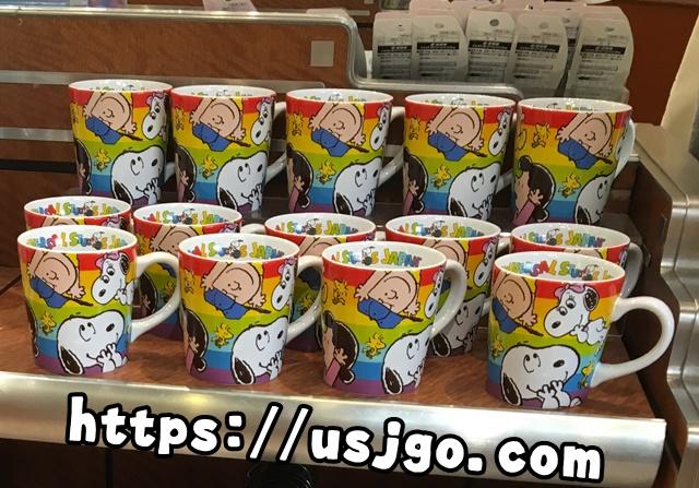 USJ スヌーピー レインボーマグカップ