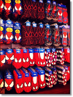 USJ スパイダーマン お土産グッズ 靴下