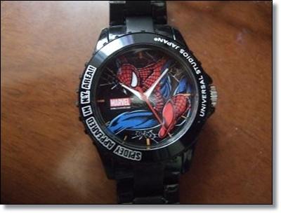 USJ スパイダーマン お土産グッズ 腕時計