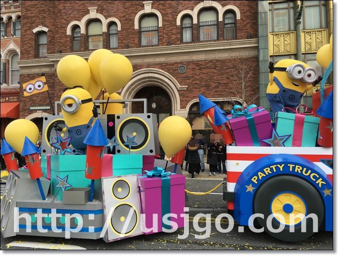 USJ リボーン パレード ミニオン