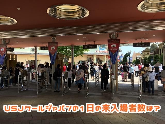 USJ クールジャパン 来入場者