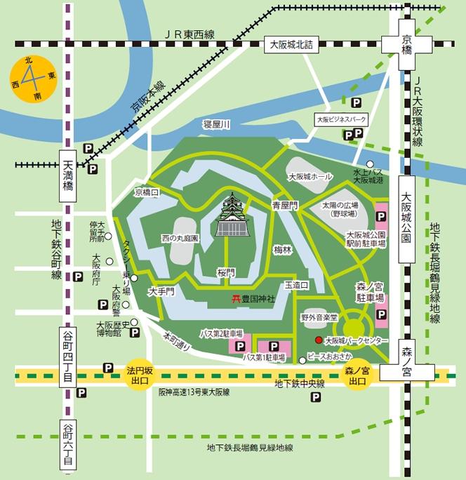 大阪城 マップ