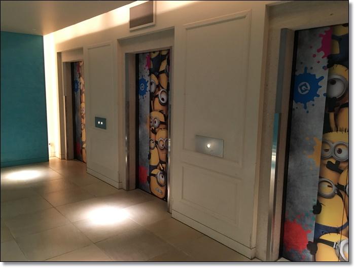USJ ホテルユニバーサルポート ミニオン エレベーター