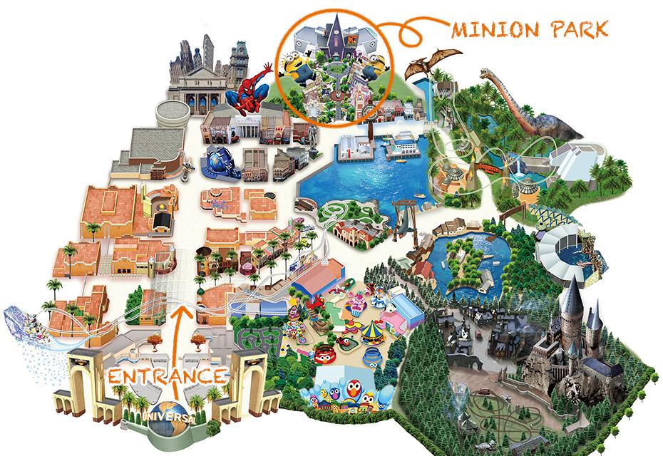 USJ ミニオンパーク マップ