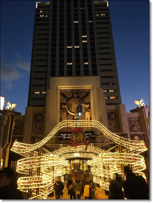 USJ ザパークフロントホテル 夜