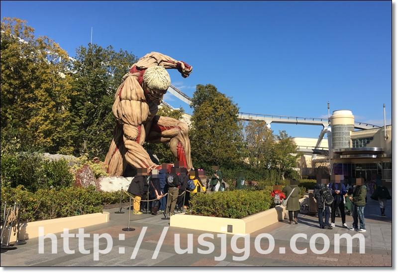 USJ 進撃の巨人 鎧の巨人 場所