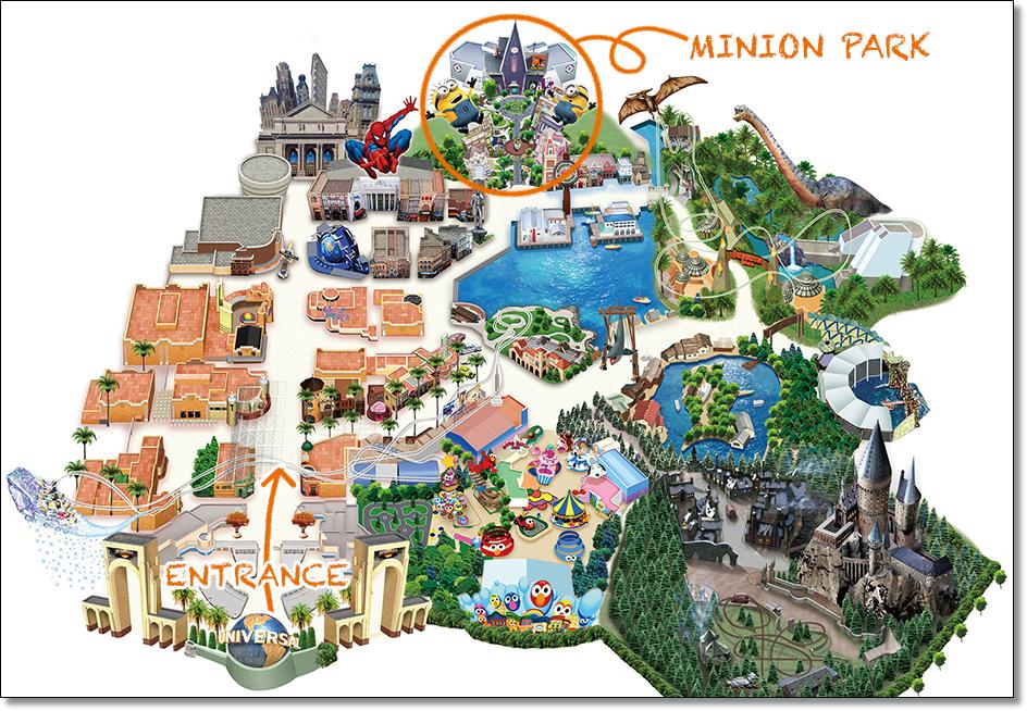 USJ ミニオンパーク マップ 地図