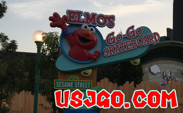 USJ エルモのゴーゴー・スケートボード