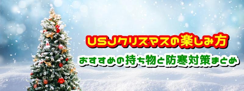 USJ クリスマス 楽しみ方 おすすめ持ち物 防寒対策 まとめ