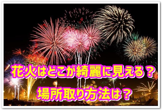 カウントダウンパーティー 花火 場所取り