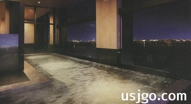 USJ ザシンギュラリホテル 展望露天風呂