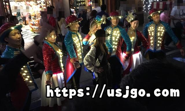 USJ スペクタクルナイトパレード スペシャルグリーティング ミニオンのダンサー