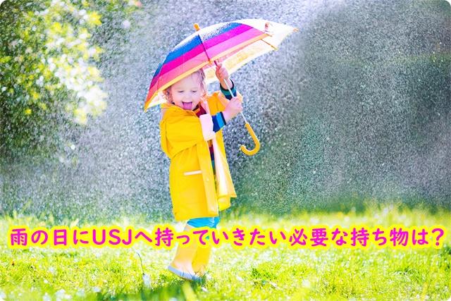 雨の日 USJ 持ち物