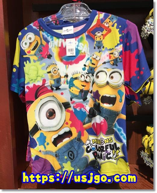 USJ ミニオン カラフルパニック Tシャツ