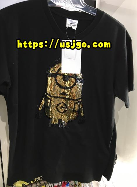 USJ ミニオン スパンコールTシャツ