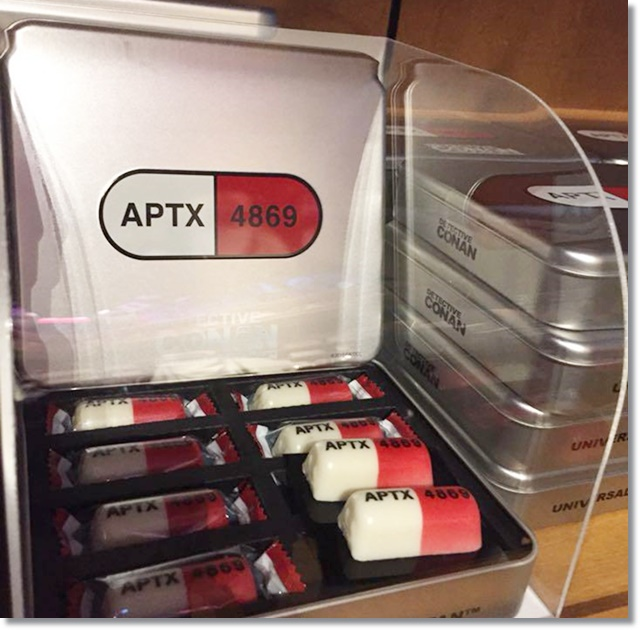 USJ コナン APTX缶入りクランチチョコ