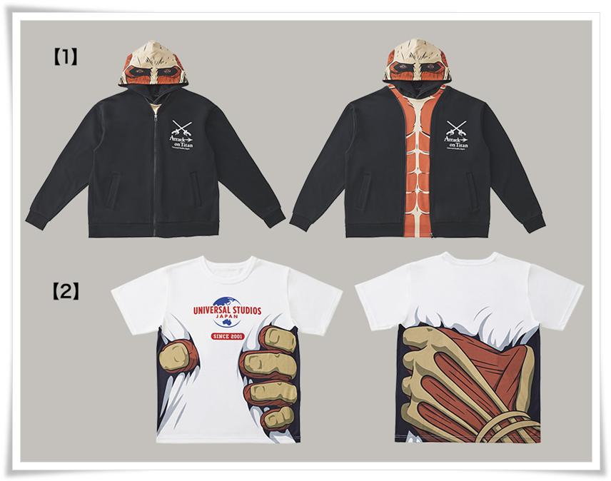 USJ進撃の巨人2020グッズ パーカー Tシャツ 画像