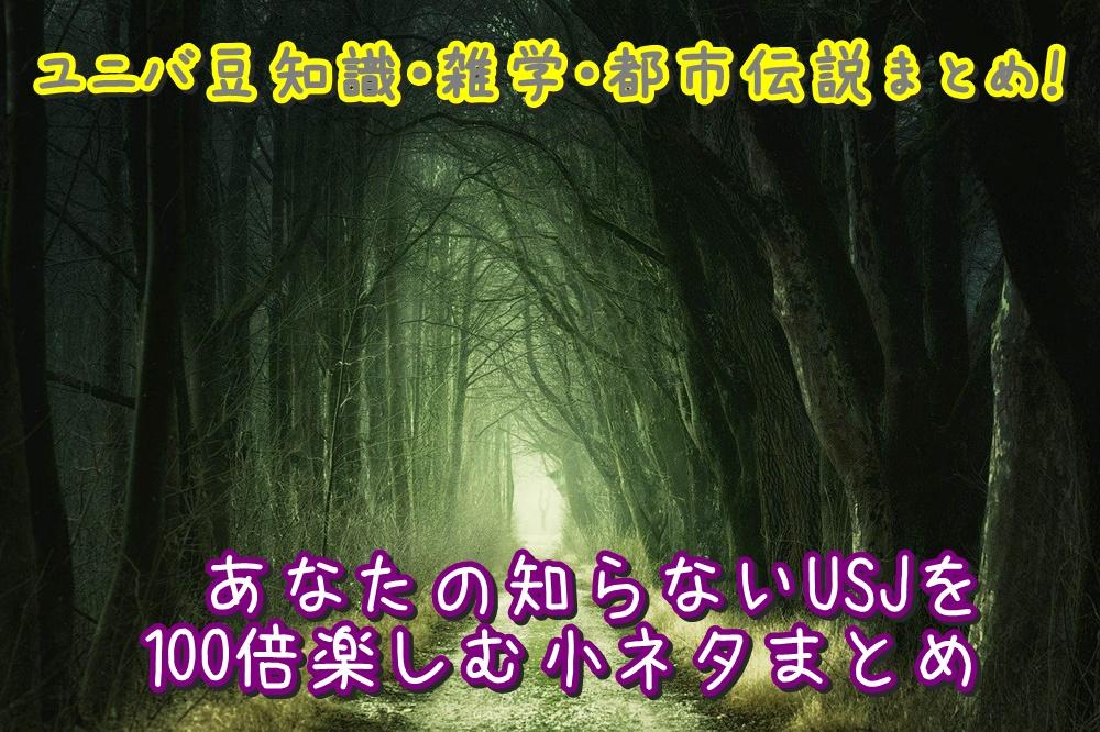 ユニバ 豆知識 雑学 都市伝説 まとめ USJ 小ネタ